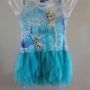 Disney Frozen dress 7/8 with velvet top .